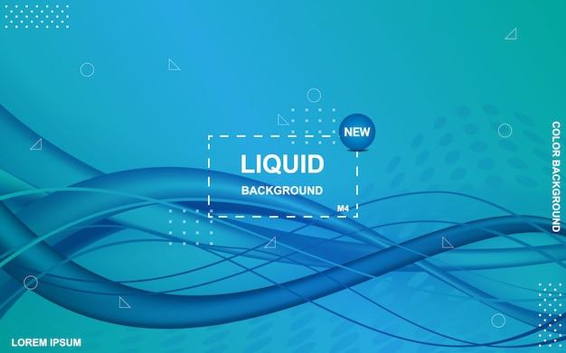 Sfondo di colore liquido. composizione di forme sfumate fluide. Vettore Premium
