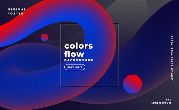 Sfondo di colori fluido scuro Vettore gratuito