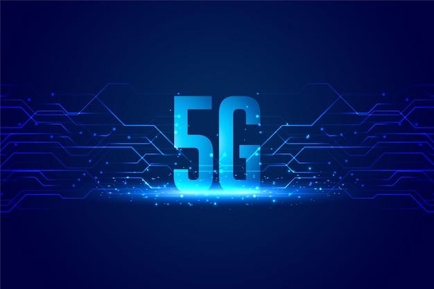 Sfondo di concetto di tecnologia digitale per la velocità superveloce Vettore gratuito