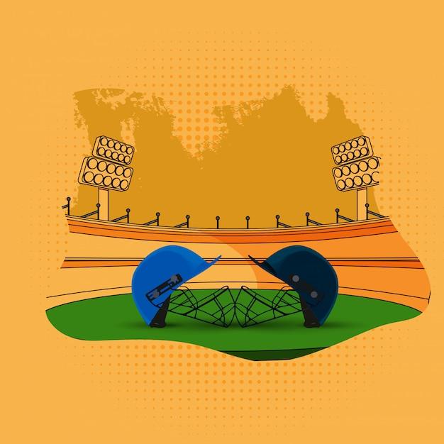 Sfondo di cricket Vettore Premium