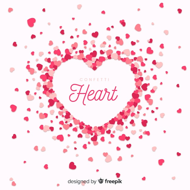 Sfondo di cuore Vettore gratuito
