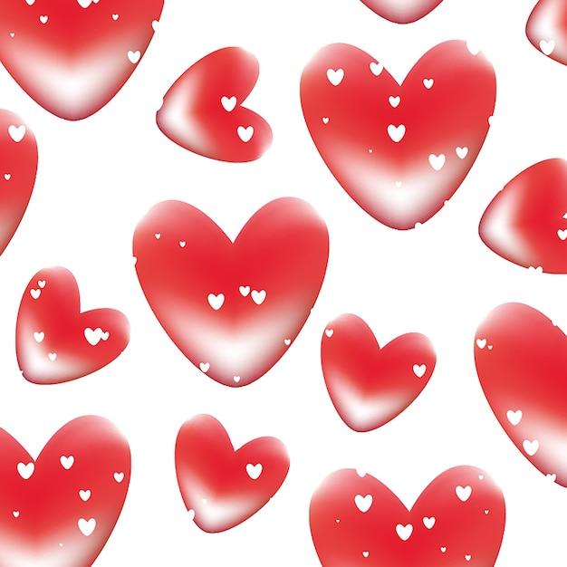 Sfondo di cuori di san valentino scaricare vettori gratis for Immagini di cuori rossi