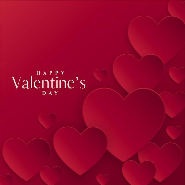 Sfondo di cuori rossi per san valentino Vettore gratuito