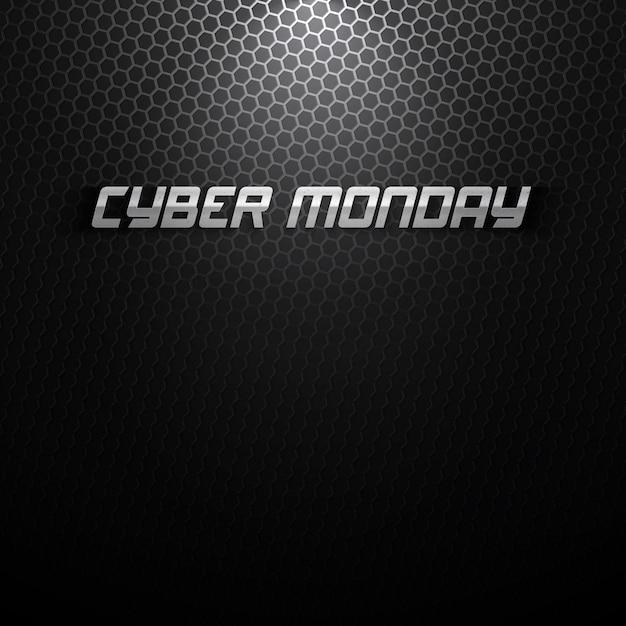 Sfondo di cyber monday Vettore Premium
