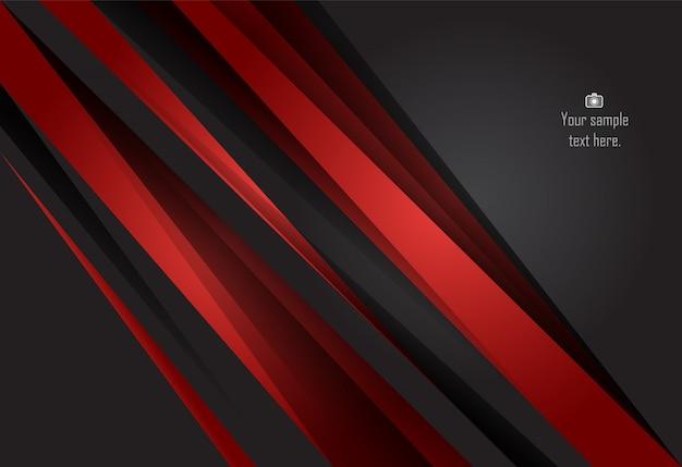 Sfondo Di Design Materiale Rosso E Nero Scaricare Vettori Premium