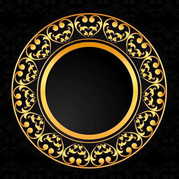 Sfondo di design ornamentale di lusso Vettore Premium