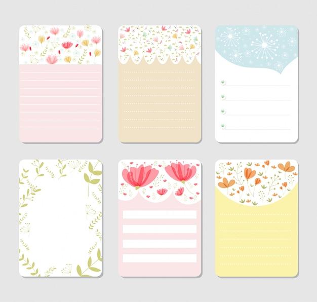 Sfondo di design per notebook set Vettore Premium