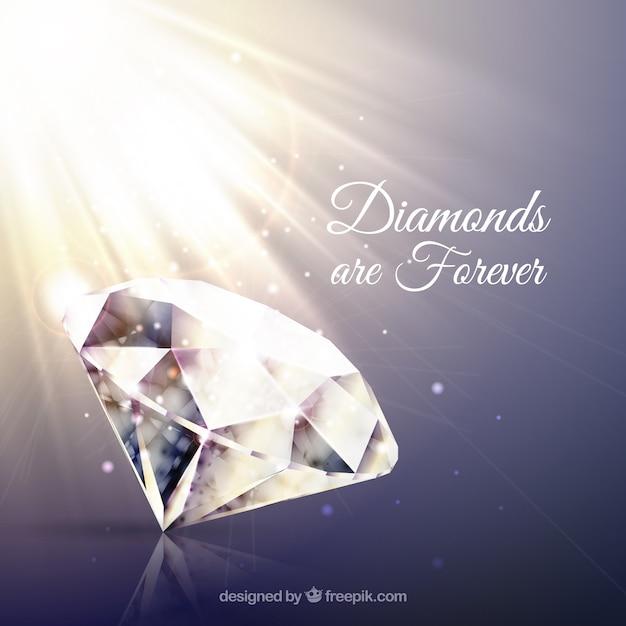 Sfondo di diamanti con il flash Vettore gratuito