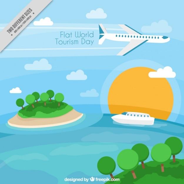 Sfondo di diversi tipi di trasporto per il giorno di turismo scaricare vettori gratis - Diversi tipi di turismo ...