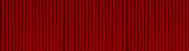 Sfondo di drappo rosso del teatro. Vettore Premium