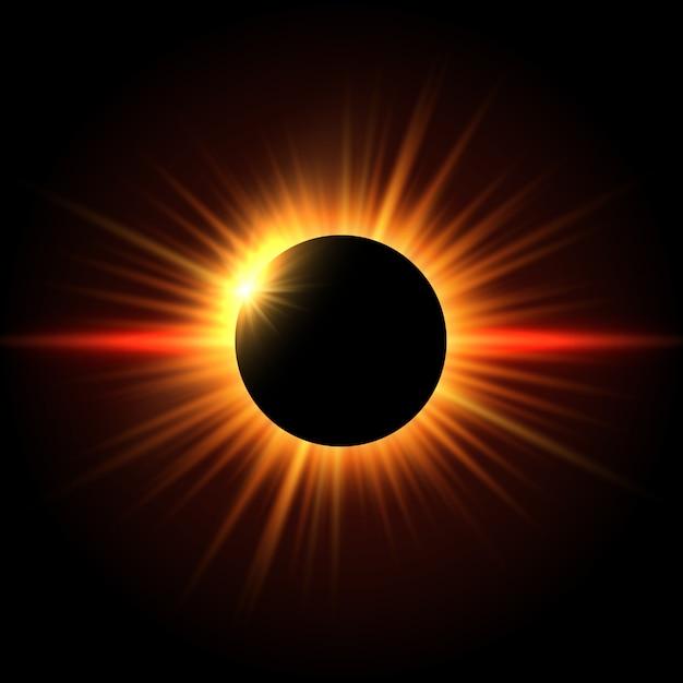 Sfondo di eclissi solare Vettore gratuito