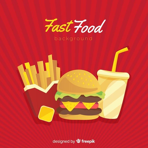 Sfondo di fast food Vettore gratuito