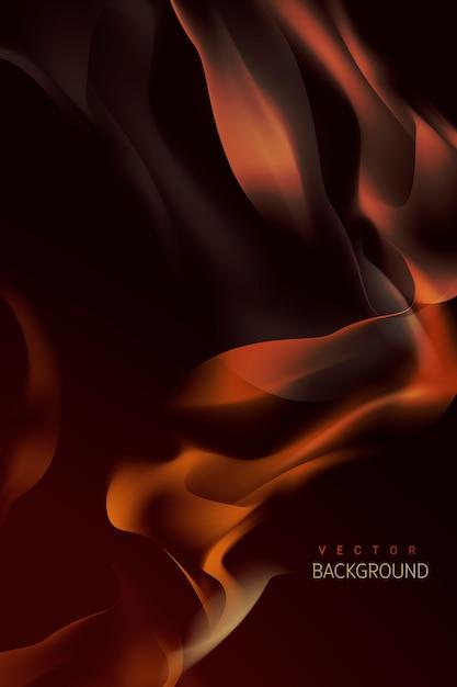 Sfondo di fiamma che brucia Vettore gratuito