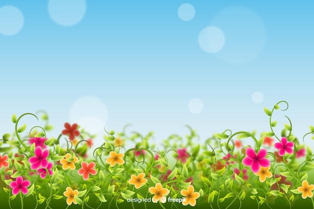 Sfondo di fiori di campo colorato Vettore gratuito