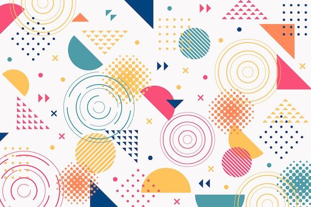 Sfondo di forme geometriche di memphis Vettore gratuito