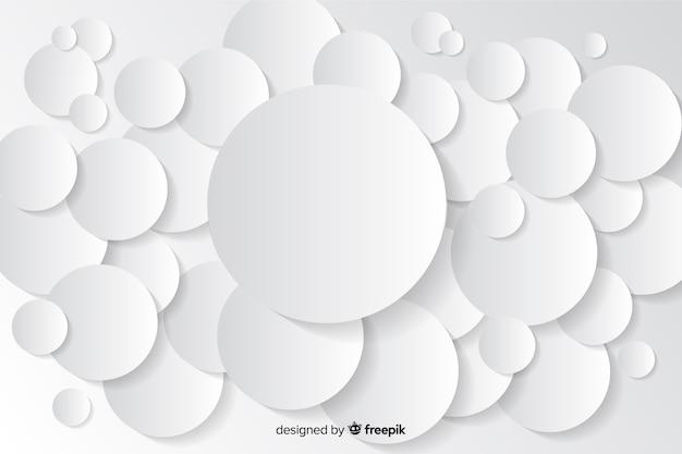 Sfondo di forme geometriche in stile carta Vettore gratuito