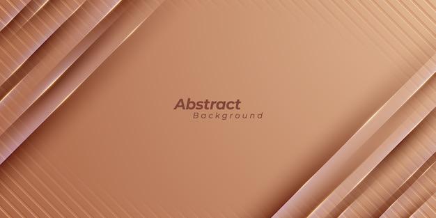 Sfondo di forme geometriche marrone. Vettore Premium