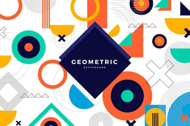 Sfondo di forme geometriche piatte Vettore gratuito