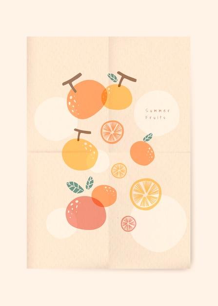 Sfondo di frutti estivi Vettore gratuito