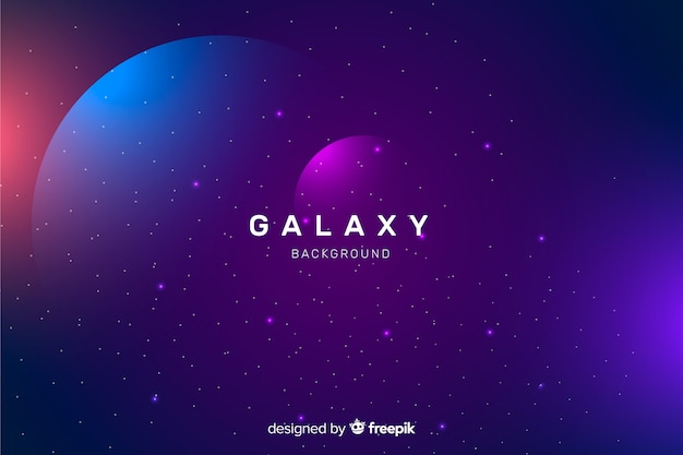 Sfondo di galassia astratta scuro realistico Vettore gratuito