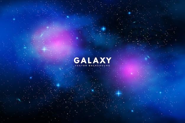 Sfondo di galassia misterioso con toni viola e blu Vettore gratuito