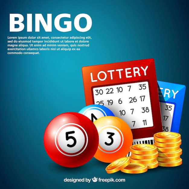 Sfondo di gioco del bingo Vettore gratuito