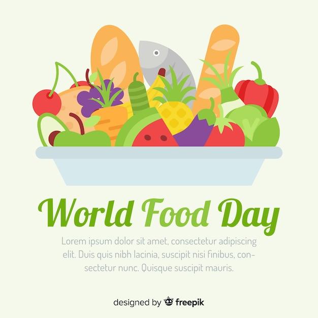 Sfondo di giornata mondiale del cibo Vettore gratuito