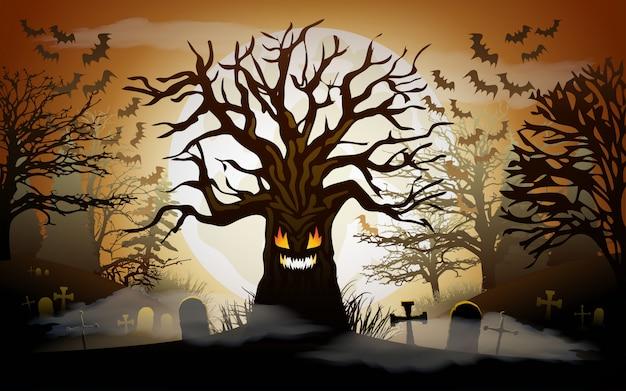 Sfondo di halloween Vettore Premium