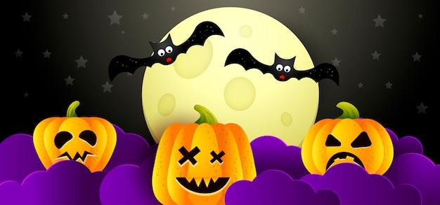 Sfondo di illustrazione vettoriale halloween Vettore Premium