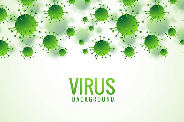 Sfondo di influenza di batteri o virus Vettore gratuito