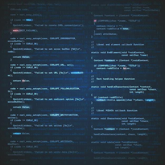Sfondo di ingegneria del software Vettore gratuito