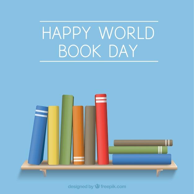 Sfondo di libri su uno scaffale Vettore gratuito