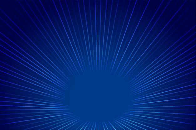Sfondo di linee di zoom prospettiva stile tecnologia blu Vettore gratuito