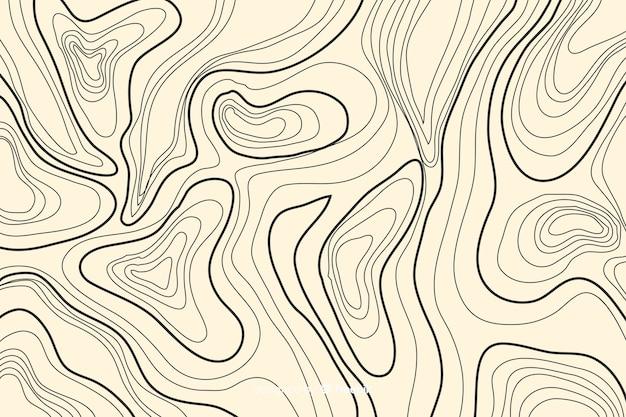 Sfondo di linee topografiche su sfumature di colore salmone Vettore gratuito