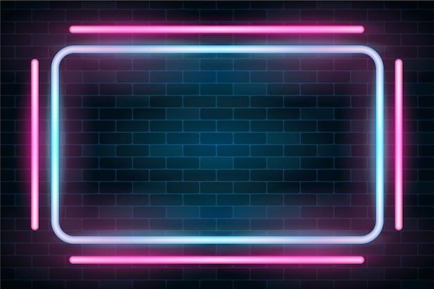 Sfondo di luci al neon Vettore gratuito