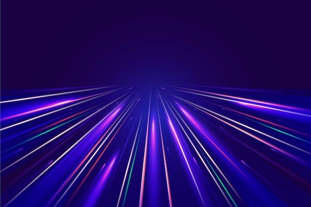 Sfondo di luci di velocità Vettore gratuito