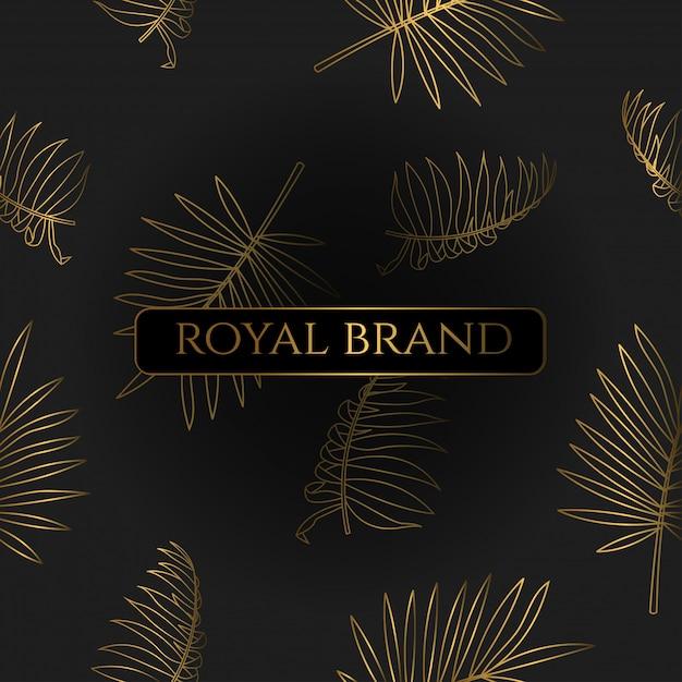 Sfondo di lusso con colore oro Vettore Premium