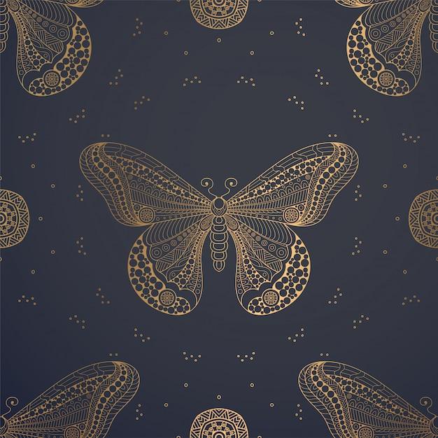 Sfondo di lusso ornamentale mandala Vettore gratuito