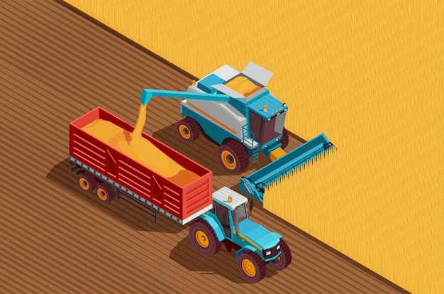 Sfondo di macchine agricole Vettore gratuito