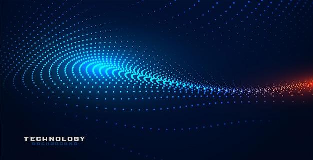 Sfondo di mesh di particelle di tecnologia incandescente partciles Vettore gratuito
