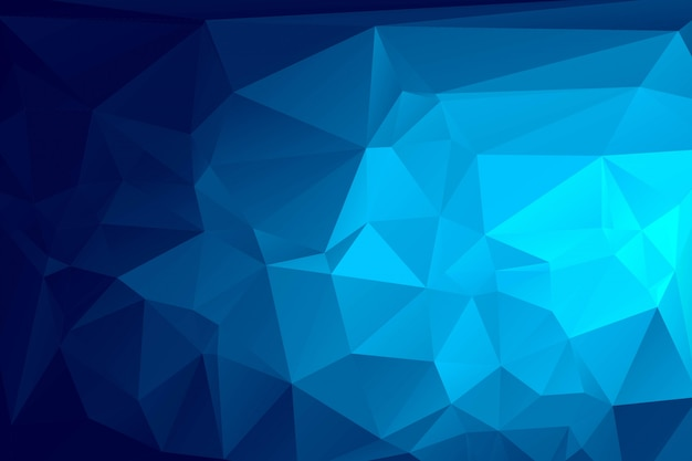 Sfondo di mosaico poligonale blu scuro Vettore gratuito