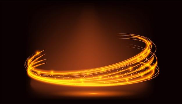 Sfondo di movimento della luce arancione Vettore Premium