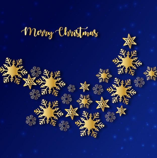 Sfondo Di Natale Blu E Oro Scaricare Vettori Premium