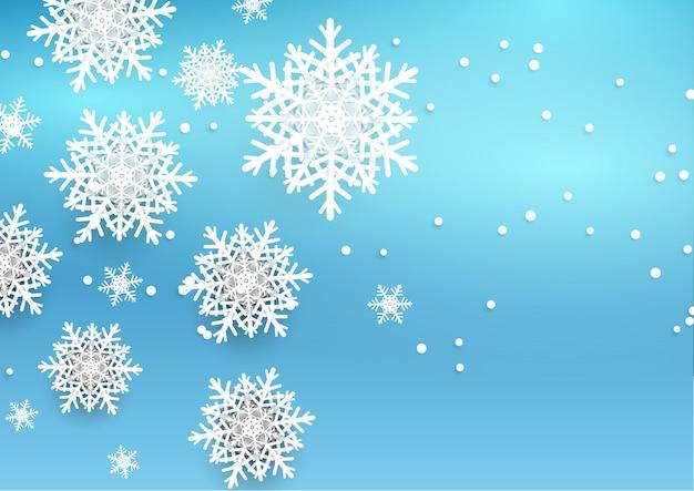 Foto Fiocchi Di Natale.Sfondo Di Natale Con Fiocchi Di Neve Stile 3d Scaricare