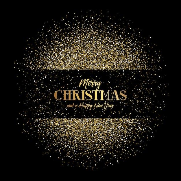 Sfondi Natalizi Oro.Sfondo Di Natale E Capodanno Con Glitter Oro Scaricare Vettori Gratis