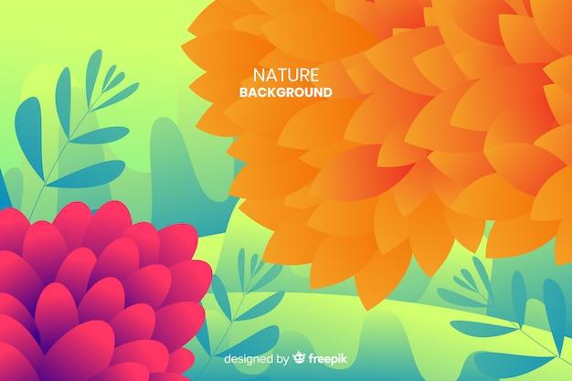 Sfondo di natura con foglie colorate Vettore gratuito