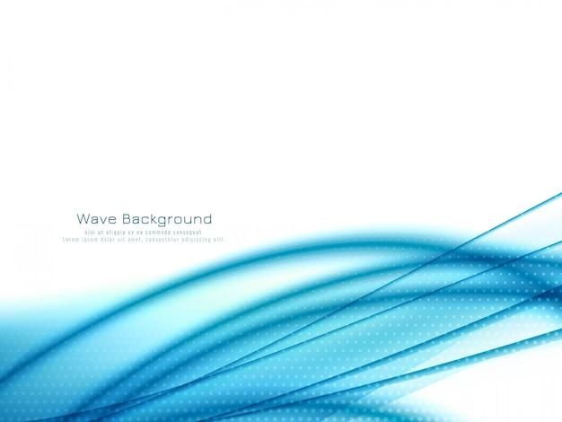 Sfondo di onda blu elegante moderno Vettore gratuito