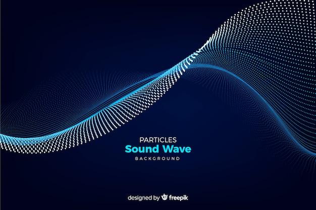 Sfondo di onde sonore di particelle Vettore gratuito
