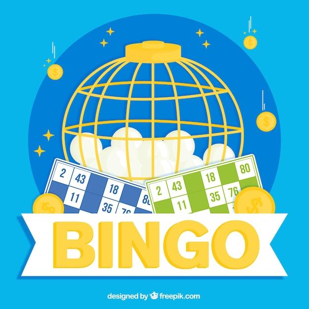 Sfondo di palline da bingo Vettore gratuito