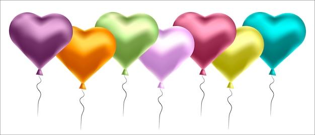 Sfondo di palloncini colorati Vettore Premium